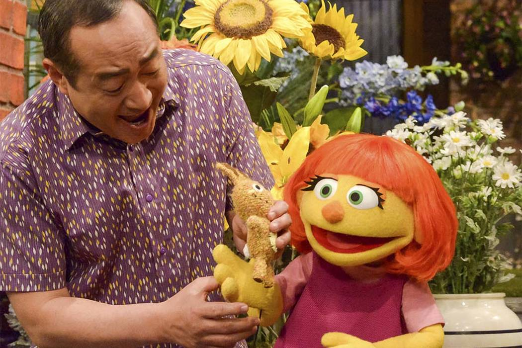"""Julia, a new autistic character will make her debut on the 47th Season of """"Sesame Street,"""" on April 10, 2017, on both PBS and HBO. (Zach Hyman/Sesame Workshop via AP)"""