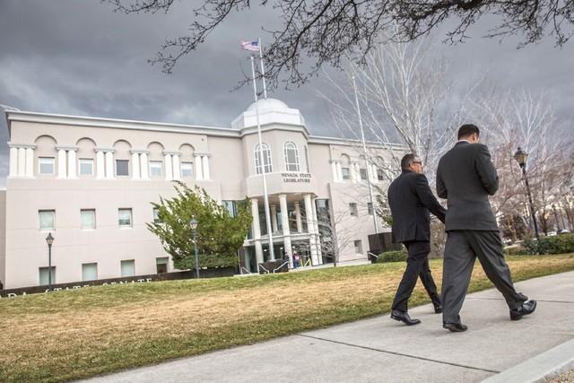The Nevada Legislature Building in Carson City. (Benjamin Hager/Las Vegas Review-Journal) @benjaminhphoto