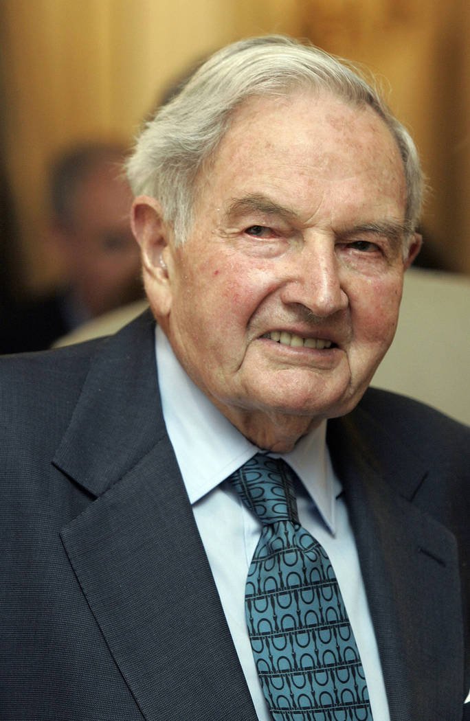 David Rockefeller participates in the C40 Large Cities Climate Summit on May 15, 2007, in New York. The billionaire philanthropist who was the last of his generation in the famously philanthropic  ...