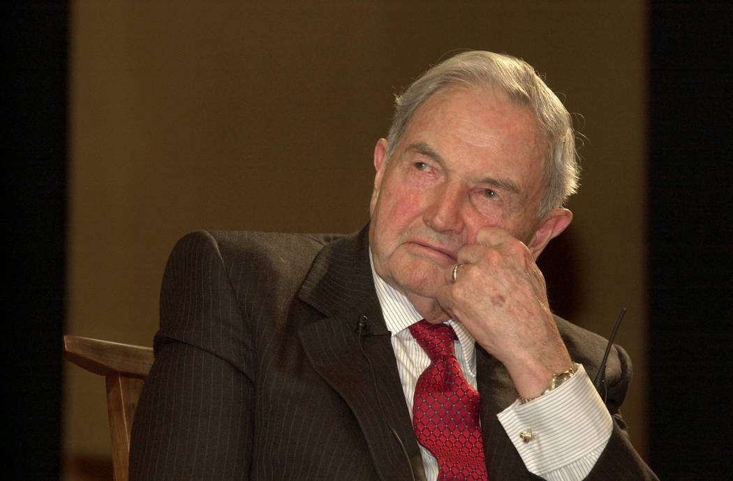 David Rockefeller is seen in New York on May 10, 2001. (Andrew Serban/Bloomberg)