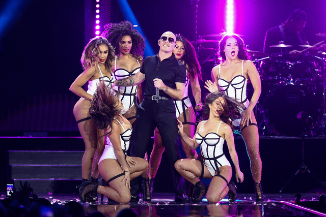 Pitbull performs at the 2016 iHeartRadio Music Festival - Day 2 held at T-Mobile Arena on Saturday, Sept. 24, 2016, in Las Vegas. (Photo by John Salangsang/Invision/AP)