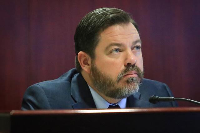 State Sen. Michael Roberson participates in a legislative committee meeting, Jan. 27, 2017, in Las Vegas. (Brett Le Blanc/Las Vegas Review-Journal) @bleblancphoto