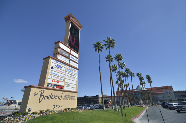 The exterior of the Boulevard Mall is shown at 3528 S. Maryland Parkway in Las Vegas on Thursday, March 12, 2015. (Bill Hughes/Las Vegas Review-Journal)