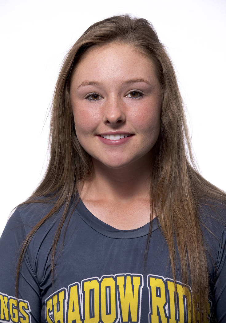 Samantha Milanovich, Shadow Ridge: The senior led Southern Nevada with 35 total touchdowns and 15 one-point conversions. Milanovich had 2,710 yards of total offense for the Mustangs.