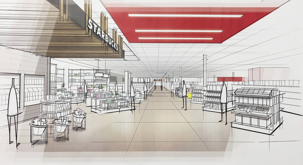 "This image provided by Target Corp. shows a rendering of an area of a redesigned Target store, featuring an ""inspiration"" entrance, meant to inspire people to explore. (Target Corp. via AP)"