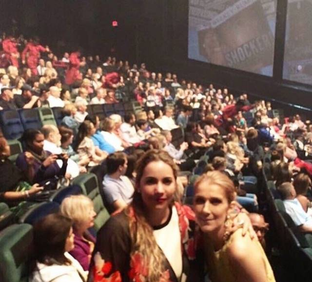 "Celine Dion and fans at Cirque du Soleil's ""Michael Jackson One"" at Mandalay Bay on Sunday, March 19, 2017, in Las Vegas. (Instagram)"