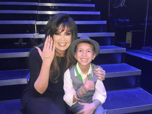 Marie Osmond and James.