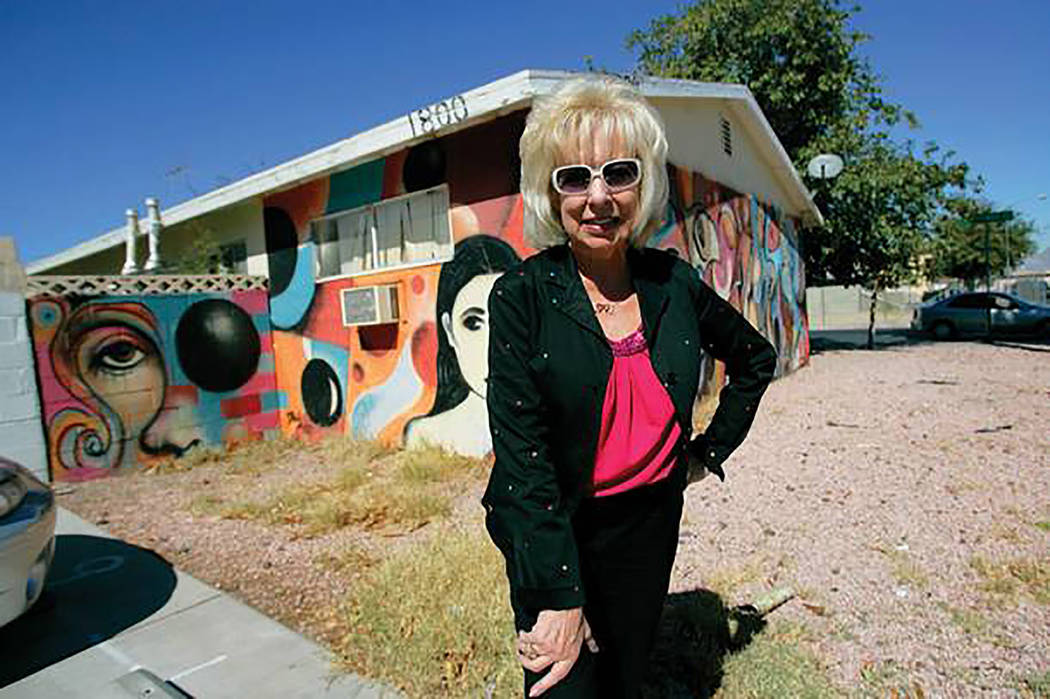 Camille Duskin is seen in this undated photo where Gateway Arts Foundation got its start, in the area of Las Vegas near the Stratosphere. (Courtesy)