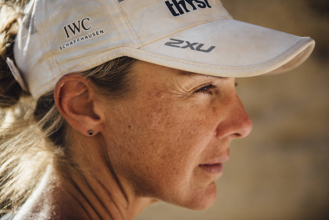 Ultra-marathoner and water advocate Mina Guli is photographed in Death Valley on March 21, 2016, the day before she finished her seven-week run through seven deserts on seven continents. The 46-ye ...