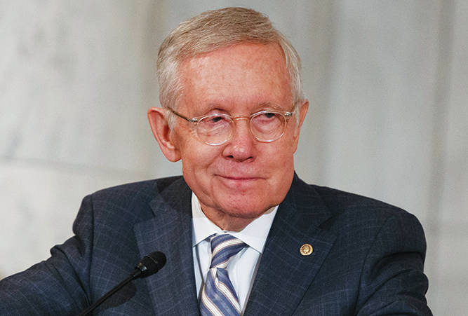 Harry Reid. AP Photo/Evan Vucci