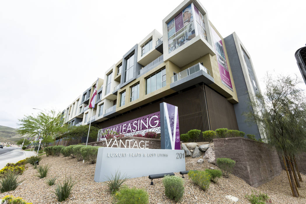 Vantage Lofts luxury rental property on South Gibson Road and Paseo Verde Parkway in Henderson, Wednesday, March 22, 2017. (Elizabeth Brumley/Las Vegas Review-Journal) @EliPagePhoto