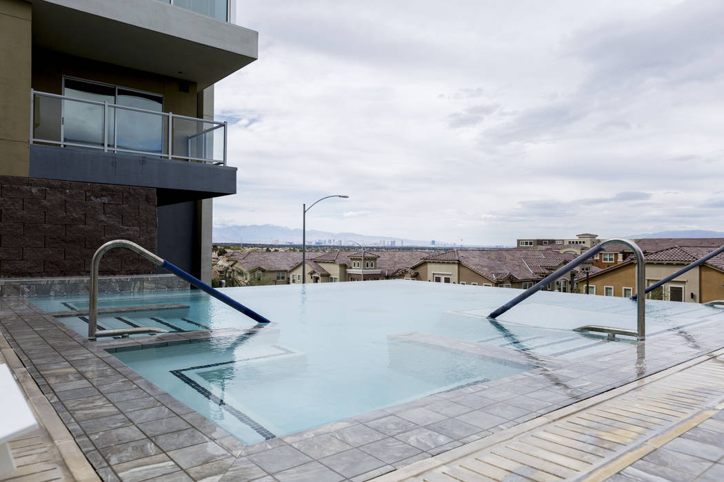 The infinity spa at the Vantage Lofts on South Gibson Road and Paseo Verde Parkway in Henderson, Wednesday, March 22, 2017. (Elizabeth Brumley/Las Vegas Review-Journal) @EliPagePhoto