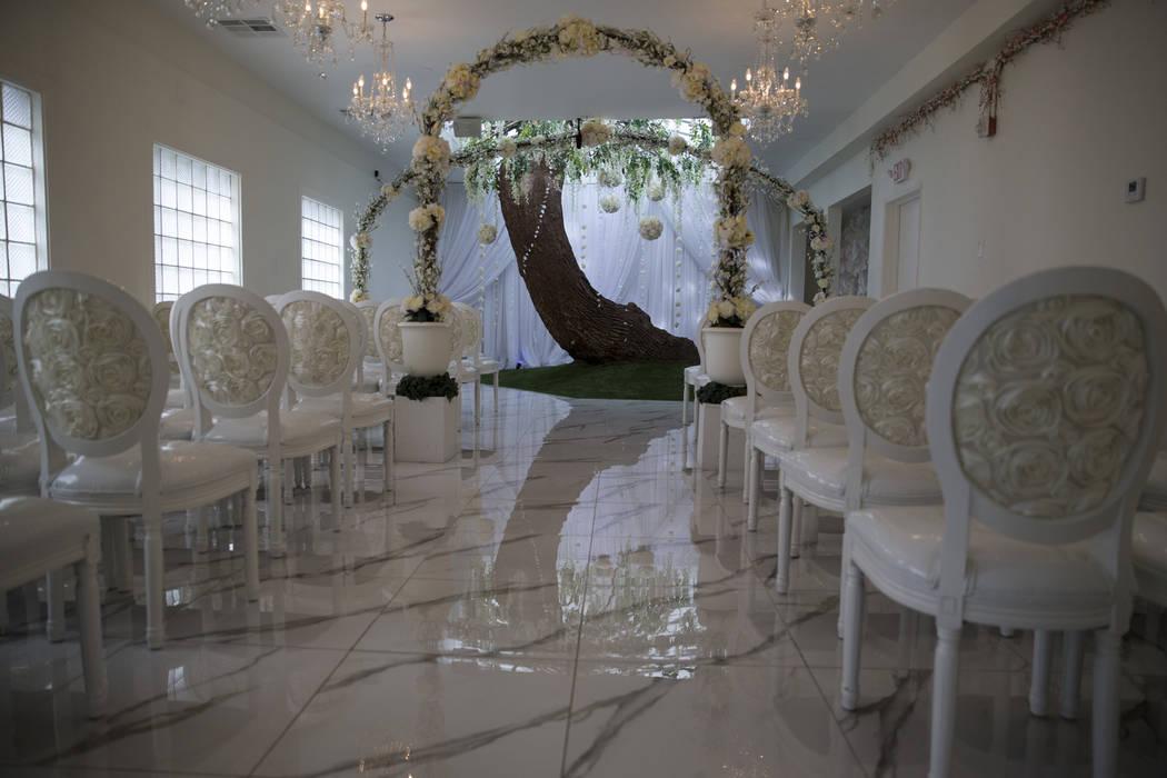 The Thunderbird Hotel chapel on Wednesday, March 22, 2017, in Las Vegas. (Erik Verduzco/Las Vegas Review-Journal) @Erik_Verduzco