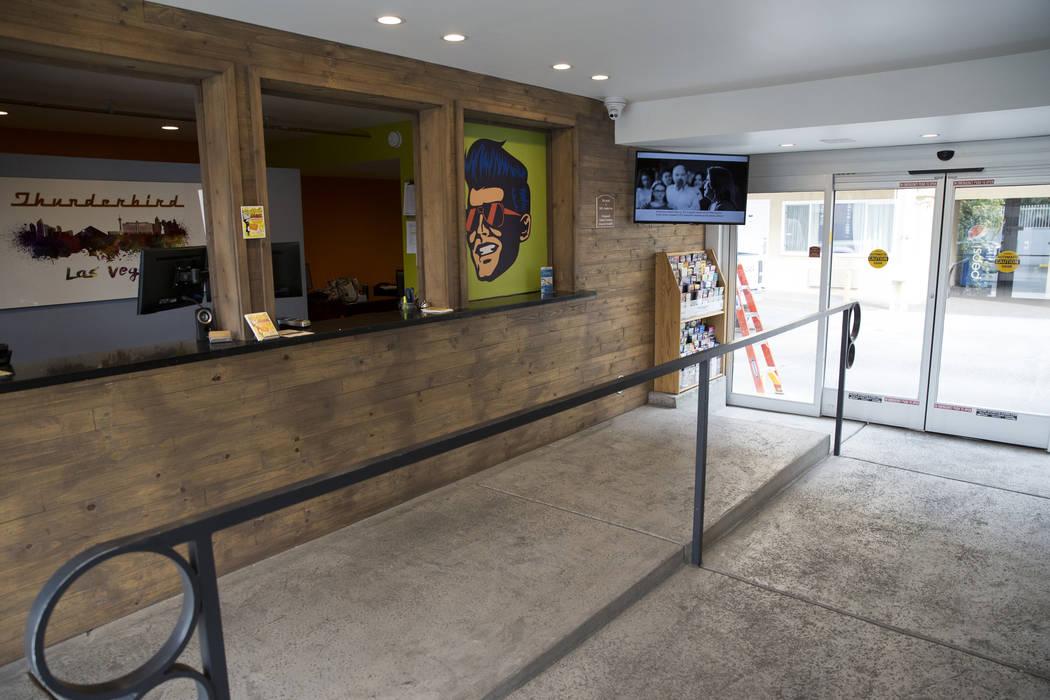 The Thunderbird Hotel lobby on Wednesday, March 22, 2017, in Las Vegas. (Erik Verduzco/Las Vegas Review-Journal) @Erik_Verduzco
