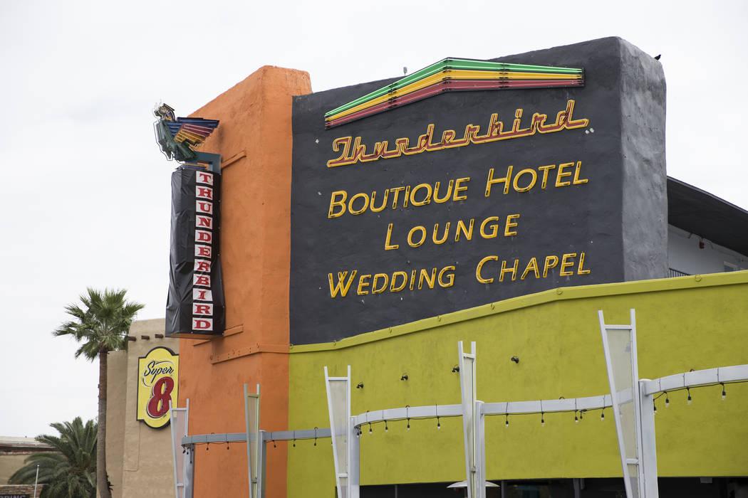 The Thunderbird Hotel on Wednesday, March 22, 2017, in Las Vegas. (Erik Verduzco/Las Vegas Review-Journal) @Erik_Verduzco