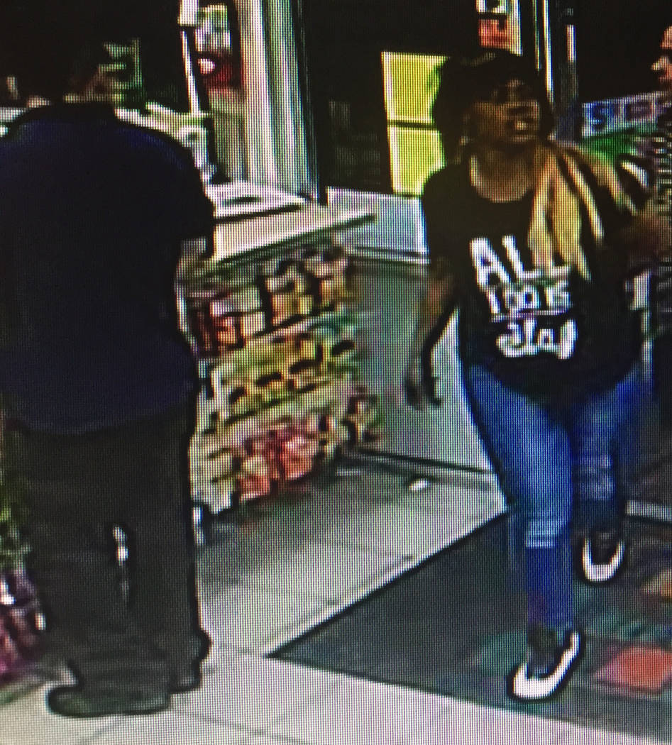 Three people suspected of an early March armed robbery of two pedestrians in the east valley remain at large Tuesday, March 21, 2017. (Las Vegas Metropolitan Police Department)