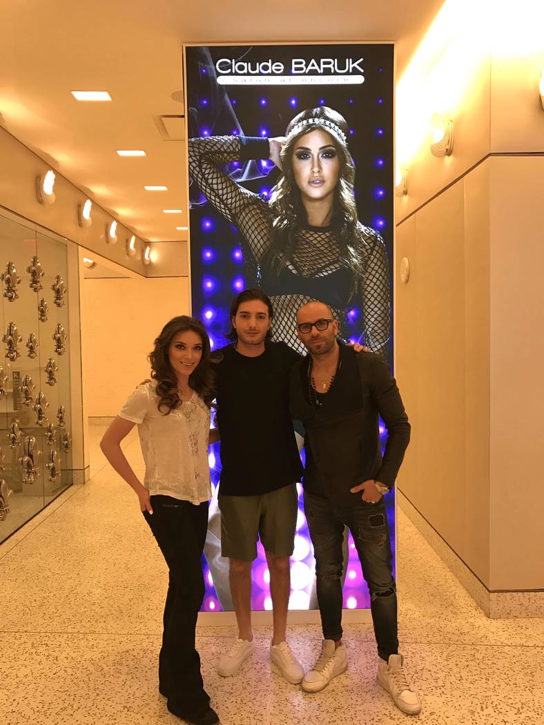 Olivia Lindblad, Alesso and Claude Baruk at Wynn Las Vegas. (Courtesy)