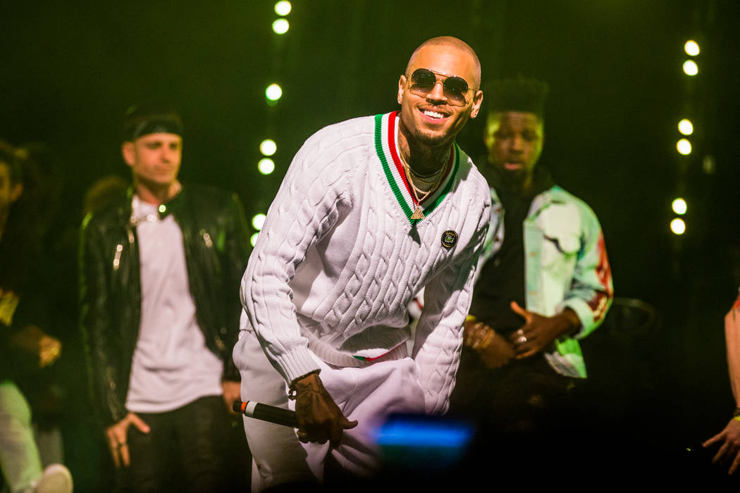 Chris Brown headlines at Drai's on Saturday, March 18, 2017, atop The Cromwell in Las Vegas. (Jesse Sutherland/Tony Tran Photography)
