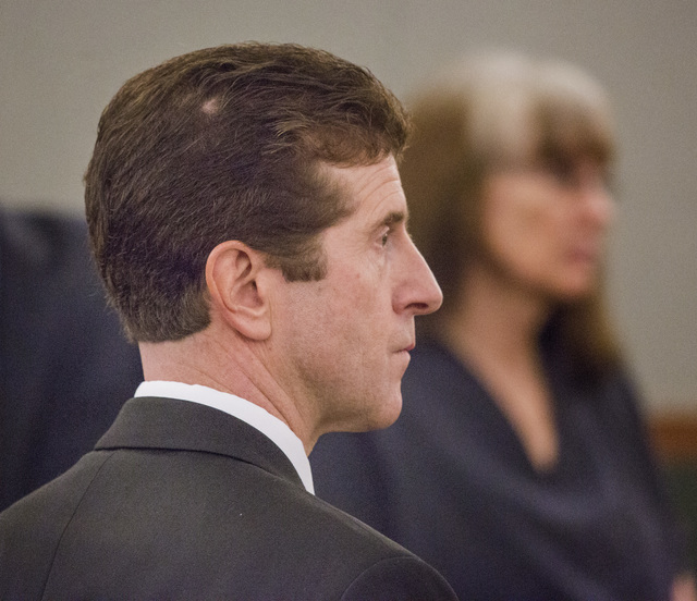 Chief Deputy District Attorney Michael Staudaher listens during the sentencing of Linda Cooney at the Regional Justice Center on Wednesday, July 9, 2014. Cooney was sentenced to 13 to 41 years in  ...