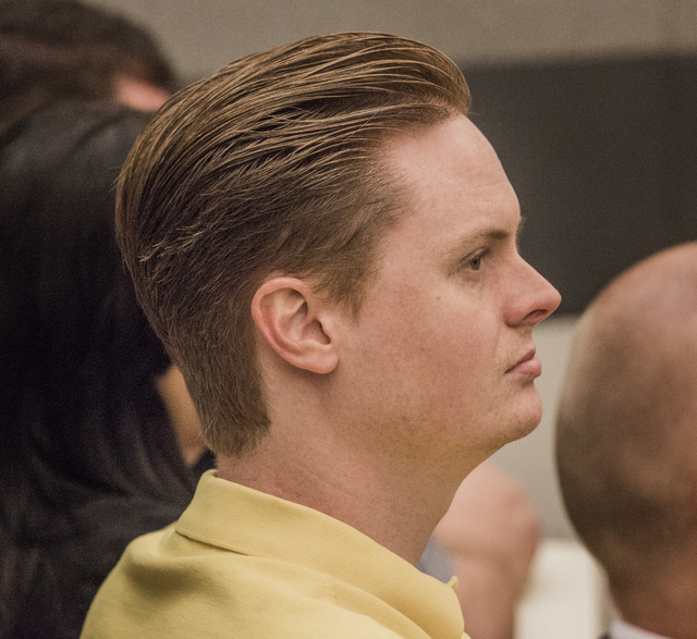 Chris Cooney, son of Linda Cooney, was in court during the sentencing of his mother at the Regional Justice Center on Wednesday, July 9, 2014. She was sentenced to 13 to 41 years in prison for sho ...