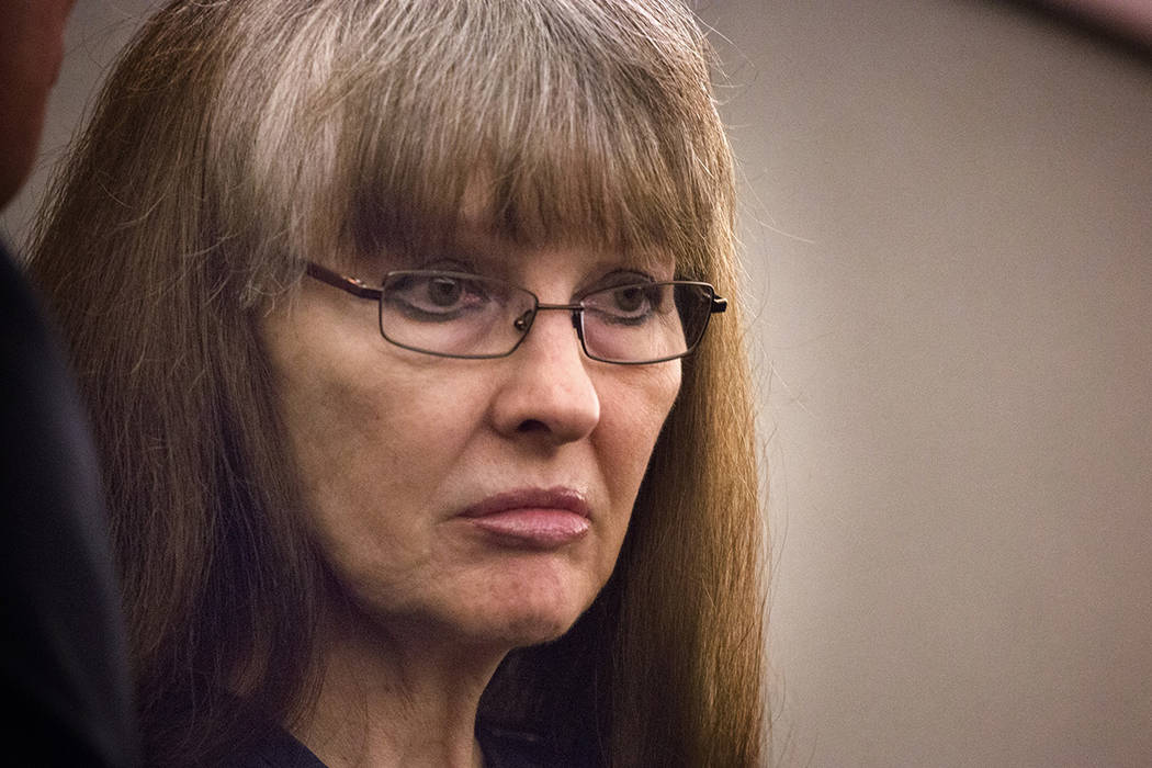 Linda Cooney during sentencing at Regional Justice Center on  Wednesday, July 9, 2014. She was  sentenced to 13 to 41 years in prison for shooting and paralyzingly her son Kevin Cooney in 2011. Sh ...
