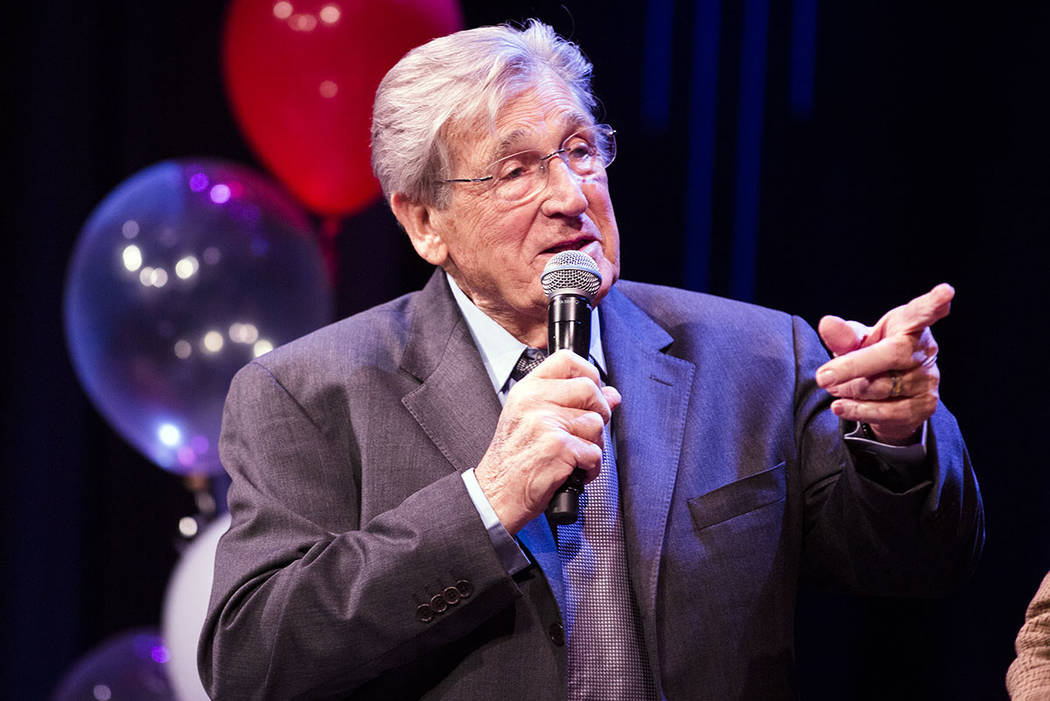 Comedian Shecky Greene, seen at the Jazz Cabaret at The Smith Center on Sunday, April 3, 2016. (Las Vegas Review-Journal)