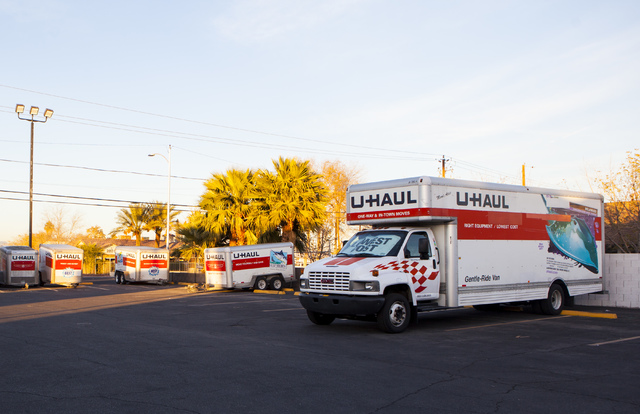 U-Haul Moving & Storage, 2001 W Bonanza Road in Las Vegas, is seen Tuesday, Dec. 20, 2016. (Miranda Alam/Las Vegas Review-Journal) @miranda_alam