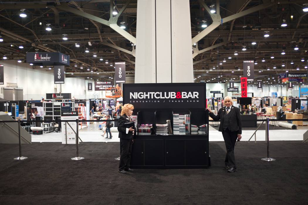 The Nightclub & Bar Show takes place at the Las Vegas Convention Center in Las Vegas, Monday, March 27, 2017. (Todd Prince/Las Vegas Review-Journal)