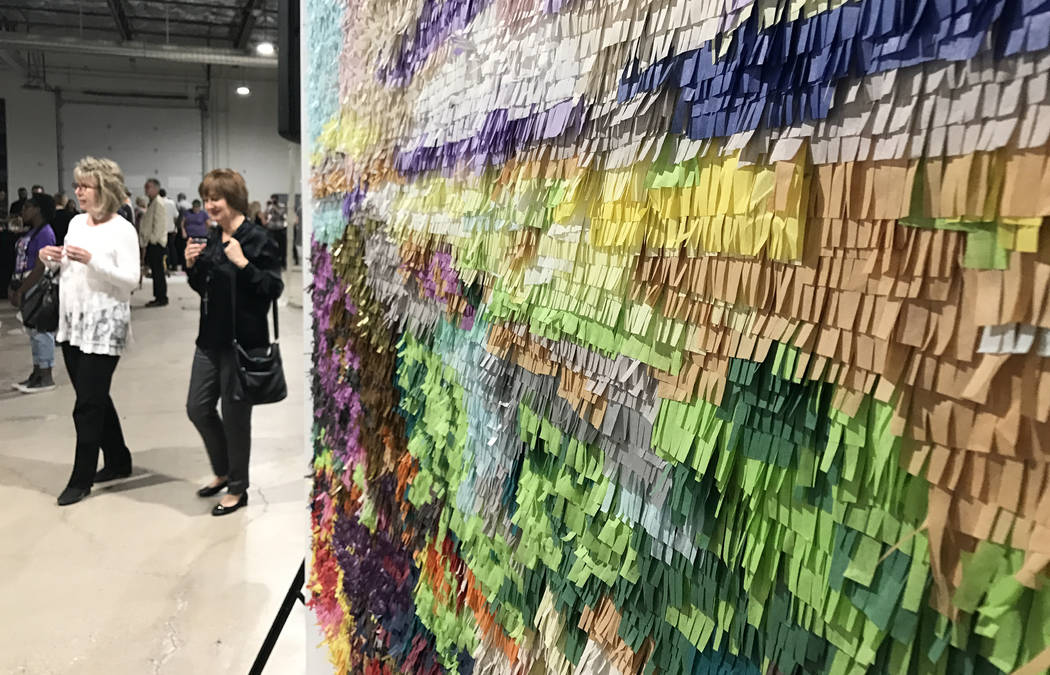 Works by artist Justin Favela are featured at Tilting the Basin, a 10-week exhibit presented by the Nevada Museum of Art and Art Museum at Symphony Park. The show opened Mar. 16 at a pop-up galler ...