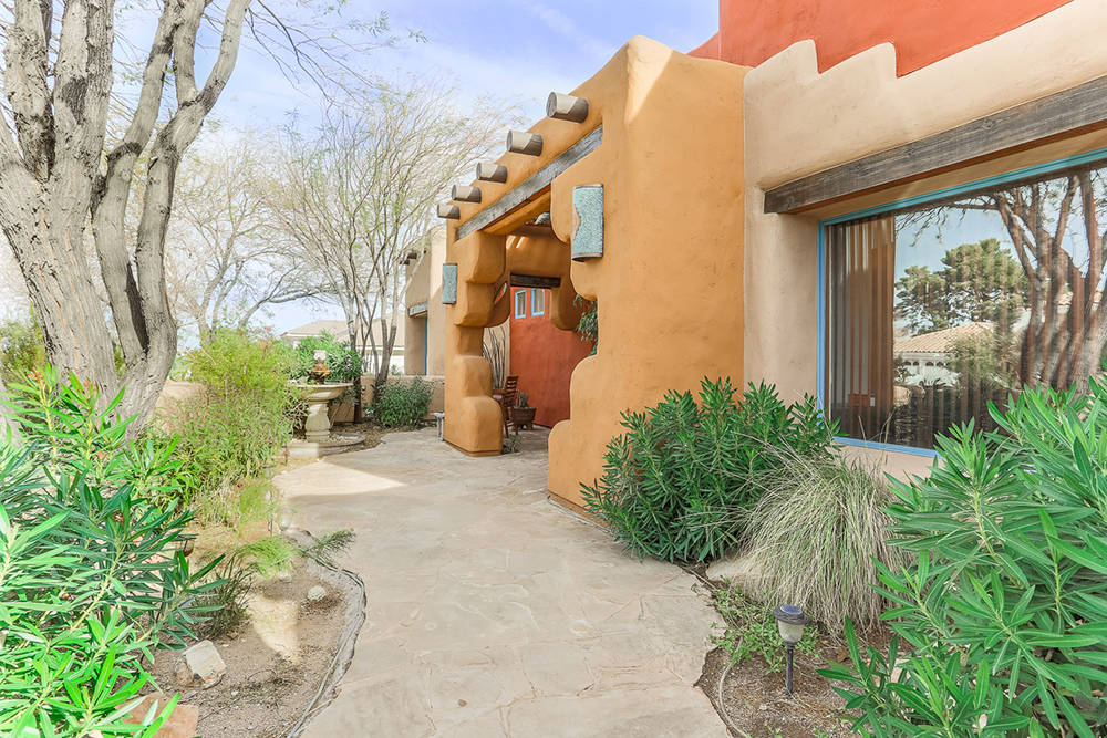 adobe style home offers slice of southwest las vegas