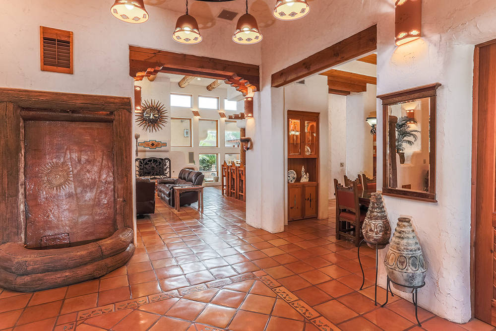 Courtesy of Avi Dan-Goor with Berkshire Hathaway HomeServices Nevada Properties The 3,849-square-foot home has Saltillo tile flooring.