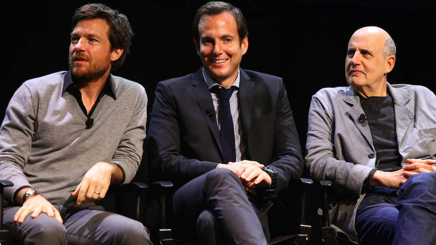 """Arrested Development"" stars Jason Bateman, Will Arnett and Jeffrey Tambor on Saturday, Oct. 1, 2011, in New York. (Getty Images)"