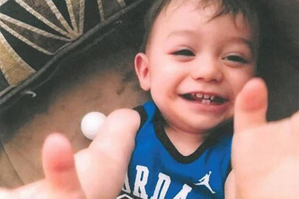 This undated photo provided by family, shows 1-year-old Jayden Cortez, who was abducted in a stolen vehicle Thursday, March 23, 2017, in Cathedral City, California. An Amber Alert has been issued  ...