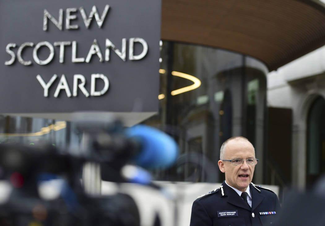 Metropolitan Police counterterrorism chief Mark Rowley speaks to the media about the terrorist attack, outside New Scotland Yard in London, Friday March 24, 2017. London's top anti-terror officer  ...