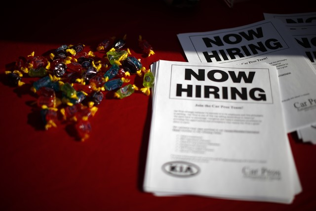 Nevada's private sector growth ranks fourth in the nation, according to data from DETR. (Reuters/Lucy Nicholson, file)