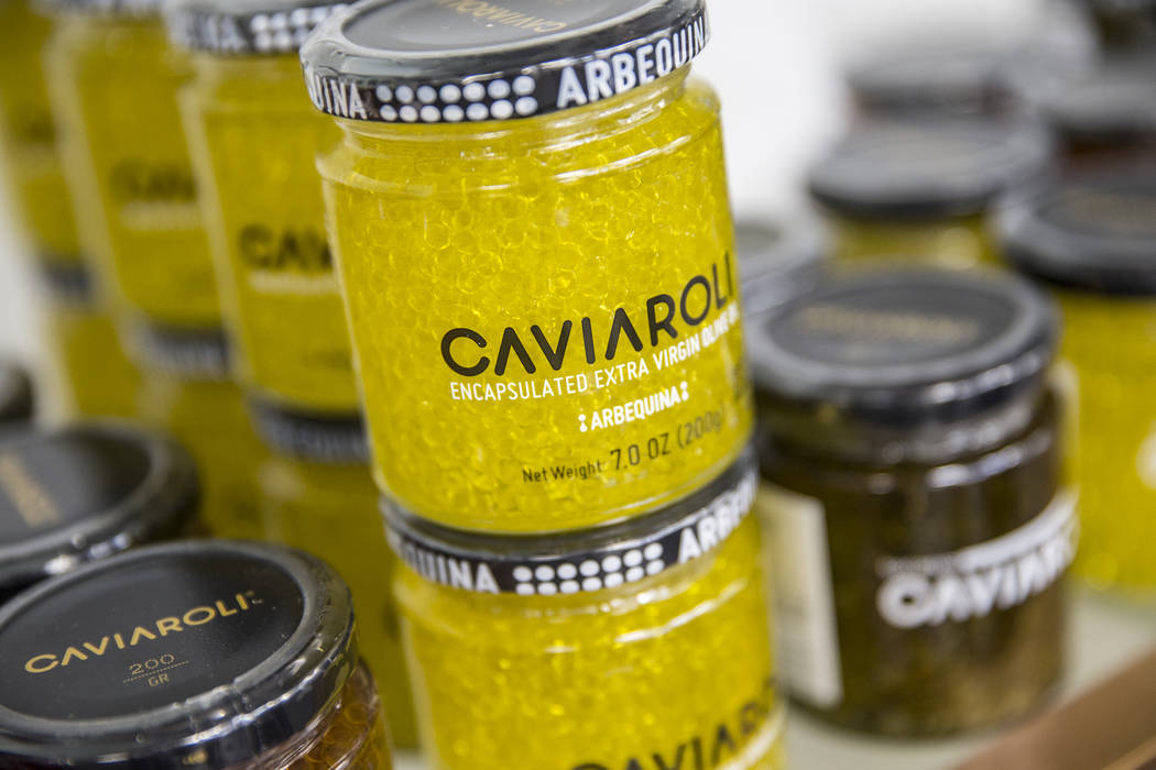 Caviaroli extra virgin olive oil will be available at the Vegas Food Expo at Gold Coast hotel/casino running March 30-31. Photo taken on Monday, March 27, 2017, at at Artisanal Foods, in Las Vegas ...