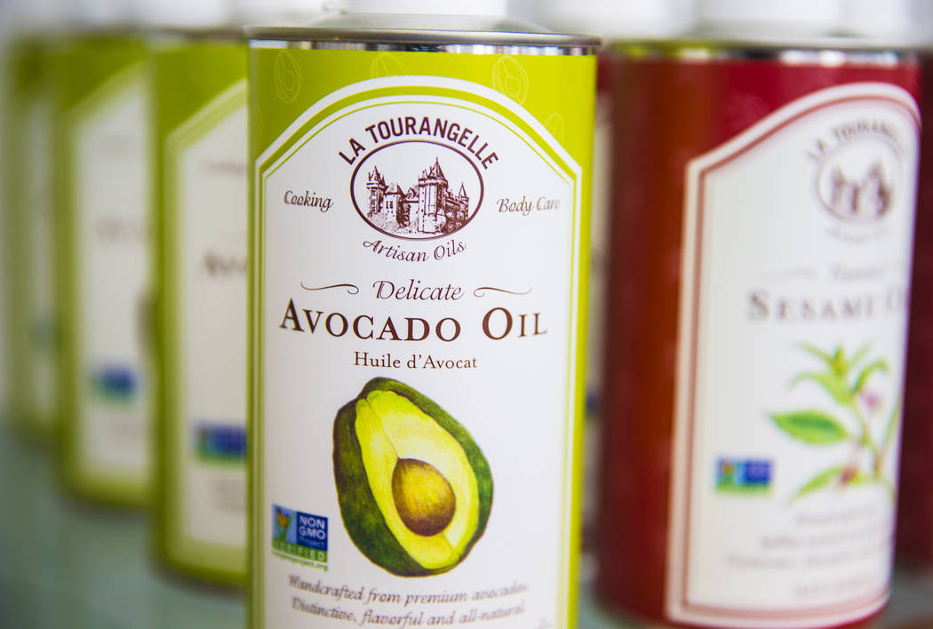 Avocado oil from La Tourangelle will be available at the Vegas Food Expo at Gold Coast hotel/casino running March 30-31. Photo taken on Monday, March 27, 2017, at at Artisanal Foods, in Las Vegas. ...