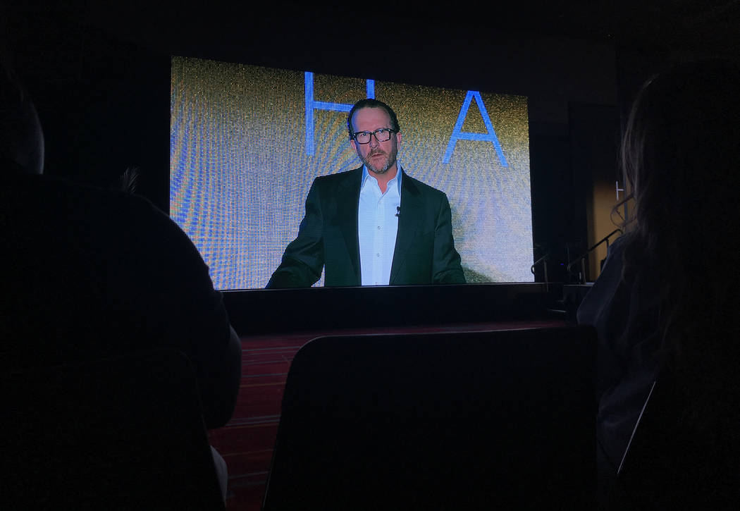 Hakkasan CEO Neil Moffitt told the Nightclub and Bar Show audience his company is now generating $500 million in revenue. (Todd Prince/Las Vegas Review-Journal)