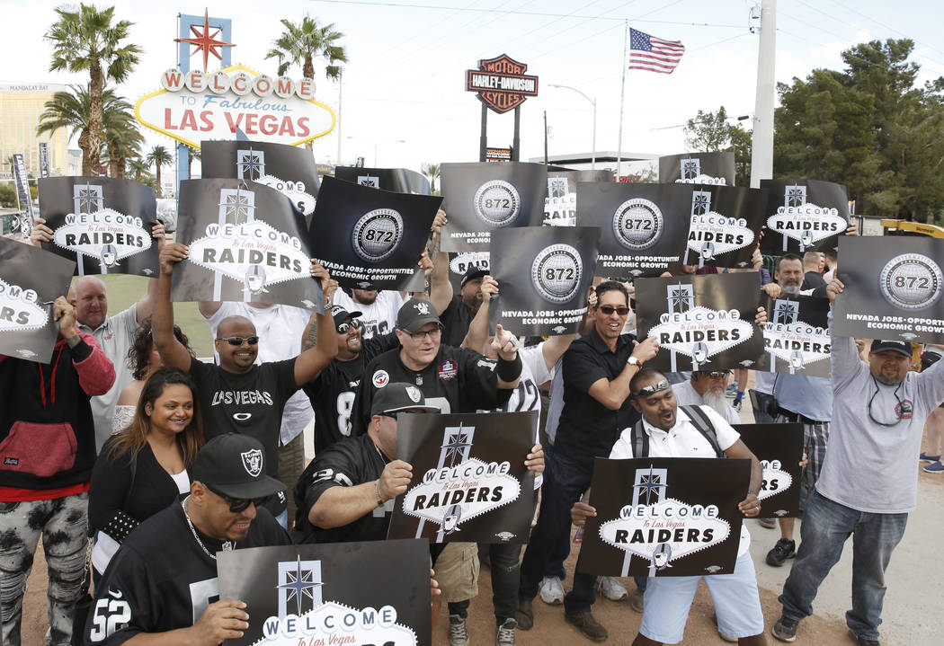 Oakland Raiders owner Mark Davis discusses the team's move to Las Vegas (Heidi Fang/Las Vegas Review-Journal)