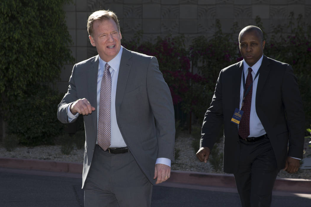 Commissioner Roger Goodell during day two of the NFL Annual Meeting at the Arizona Biltmore Hotel on Monday, March 27, 2017, in Phoenix, Ariz. (Erik Verduzco/Las Vegas Review-Journal) @Erik_Verduzco