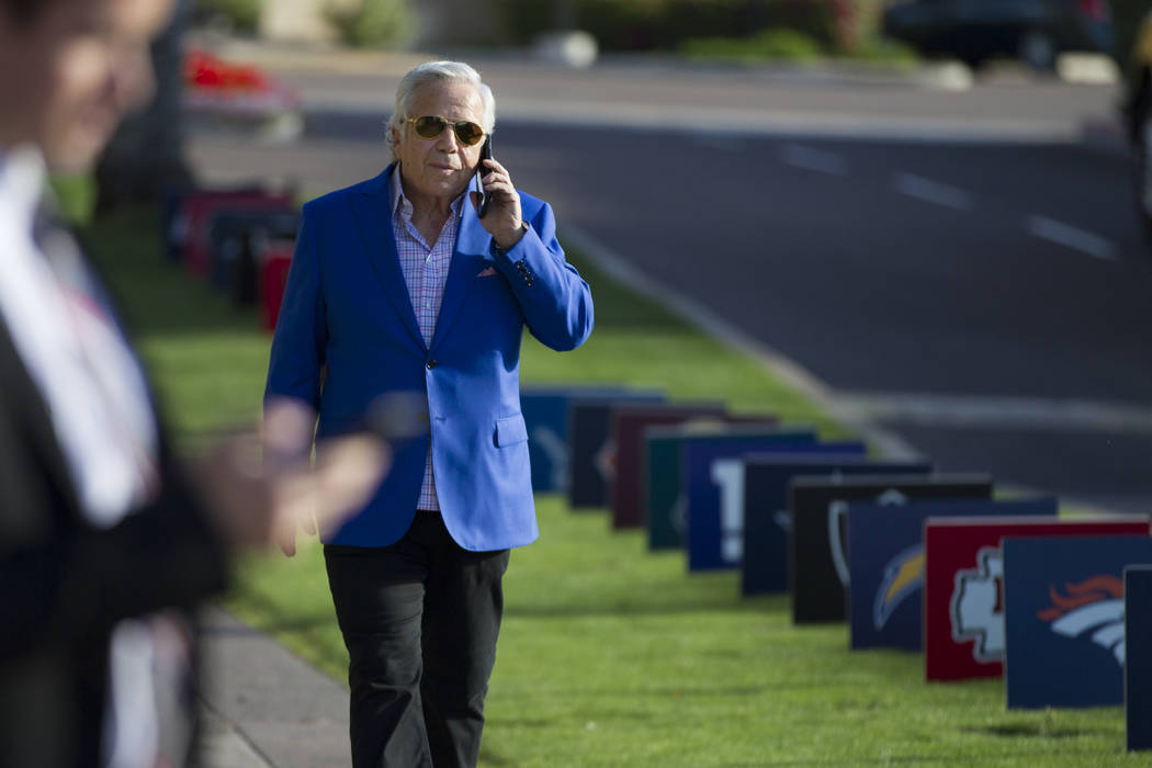New England Patriots owner Robert Kraft during day two of the NFL Annual Meeting at the Arizona Biltmore Hotel on Monday, March 27, 2017, in Phoenix, Ariz.. (Erik Verduzco/Las Vegas Review-Journal ...