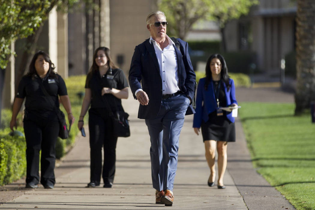 Denver Broncos general manager John Elway during day two of the NFL Annual Meeting at the Arizona Biltmore Hotel on Monday, March 27, 2017, in Phoenix, Ariz.. (Erik Verduzco/Las Vegas Review-Journ ...