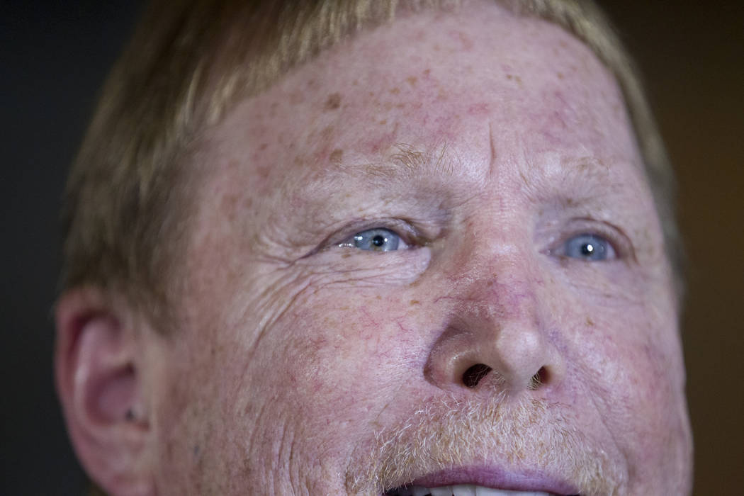 Oakland Raiders owner Mark Davis during day two of the NFL Annual Meeting at the Arizona Biltmore Hotel on Monday, March 27, 2017, in Phoenix, Ariz. (Erik Verduzco/Las Vegas Review-Journal) @Erik_ ...