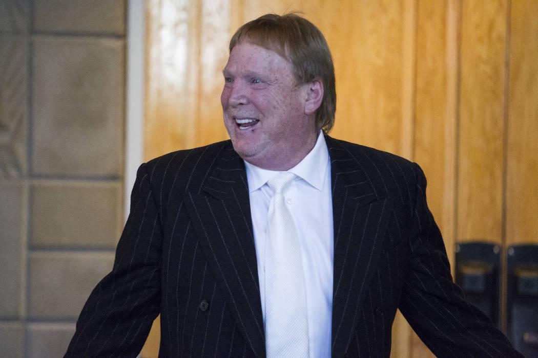 Oakland Raiders owner Mark Davis during day two of the NFL Annual Meeting at the Arizona Biltmore Hotel on Monday, March 27, 2017, in Phoenix, Ariz. (Erik Verduzco/Las Vegas Review-Journal) @Erik_ ...