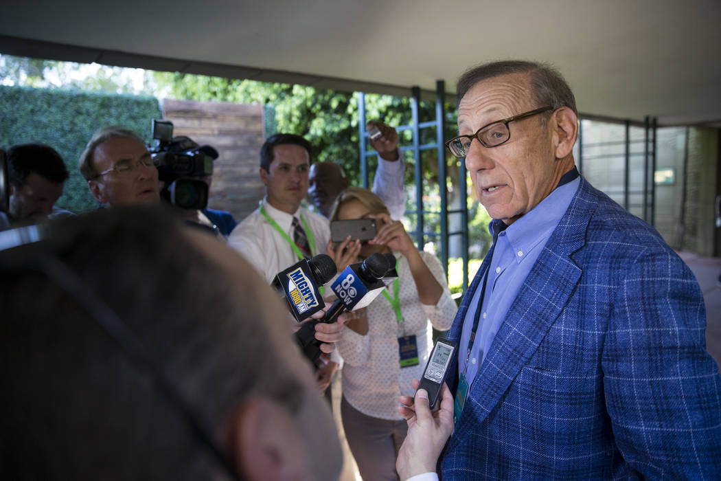 Miami Dolphins owner Stephen Ross during day two of the NFL Annual Meeting at the Arizona Biltmore Hotel on Monday, March 27, 2017, in Phoenix, Ariz. Ross was the only owner to vote against the Oa ...