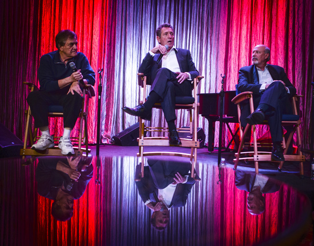 Entertainer Bob Anderson,center, along with music director Vince Falcone, and executive director Stephen Eich during a press conference Tuesday, January 20, 2015 at The Palazzo Las Vegas, 3325 Sou ...