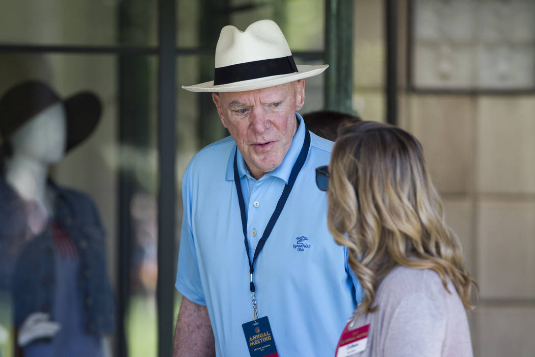 Houston Texans owner Bob McNair arrives to the NFL Annual Meeting at the Arizona Biltmore Hotel on Sunday, March 26, 2017, in Phoenix, Ariz. (Erik Verduzco/Las Vegas Review-Journal) @Erik_Verduzco