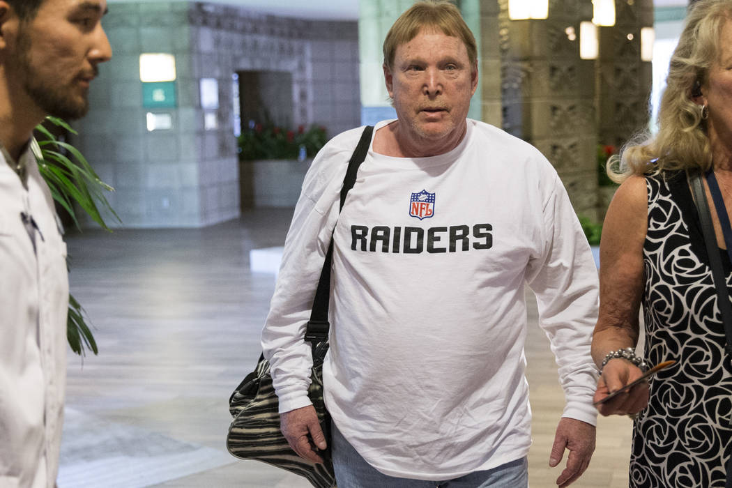 Oakland Raiders owner Mark Davis arrives to the NFL Annual Meeting at the Arizona Biltmore Hotel on Sunday, March 26, 2017, in Phoenix, Ariz. (Erik Verduzco/Las Vegas Review-Journal) @Erik_Verduzco