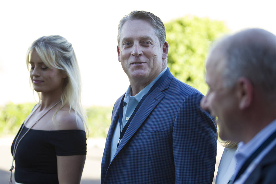 Oakland Raiders head coach Jack Del Rio during day one of the NFL Annual Meeting at the Arizona Biltmore Hotel on Sunday, March 26, 2017, in Phoenix, Ariz. (Erik Verduzco/Las Vegas Review-Journal) ...