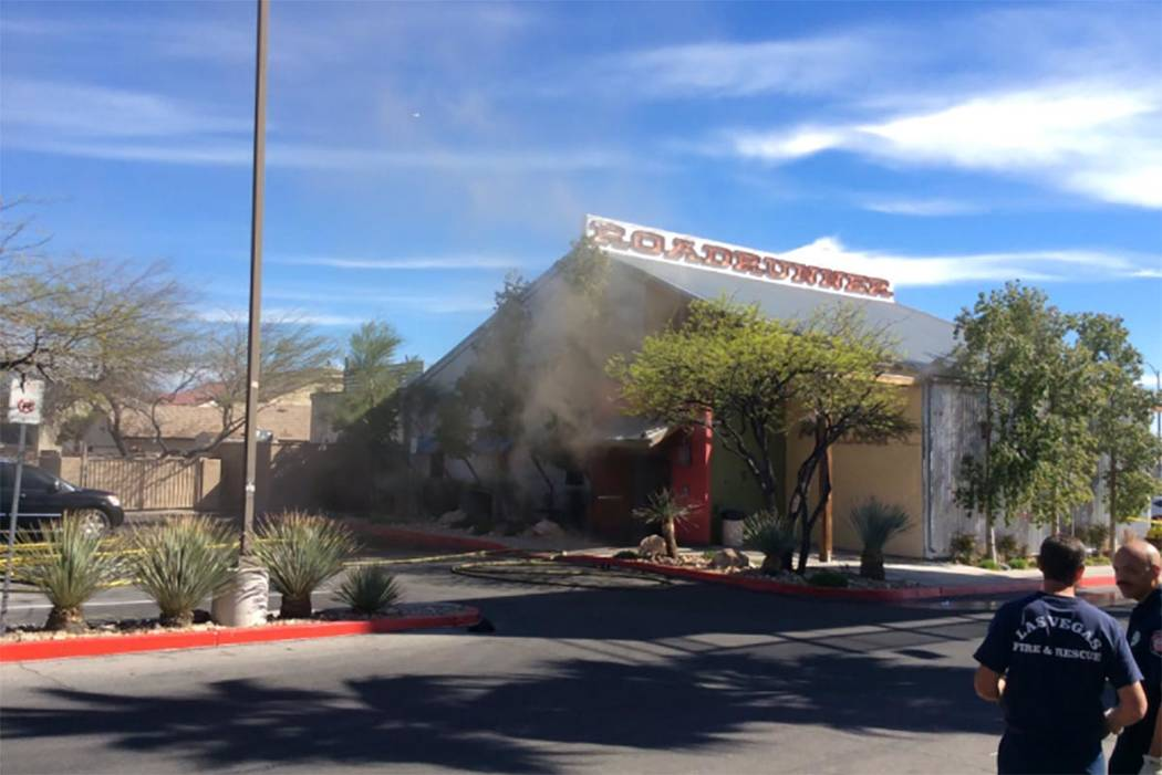 A kitchen fire destroyed part of the Roadrunner Saloon in Las Vegas on Sunday, March 26, 2017. (Las Vegas Fire & Rescue/Twitter)